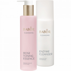 Enzyme Cleanser und Rose Toning Essence